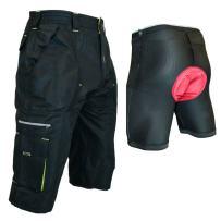 Urban Cycling Apparel The Gravel 1/2 Pants - Long Mountain Bike MTB Baggy Shorts 7 Pockets, Side Vents