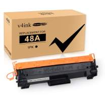 [with New CHIP] v4ink Black 1-Pack Compatible for HP 48A CF248A M15w M29w Toner Cartridge for use in HP Laserjet Pro M15w M15a M16a M16w M15 HP Laserjet Pro MFP M28w M28a M29w M29a Printer
