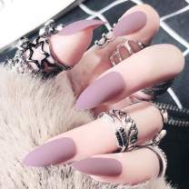 Victray Pink False Nails Matte Full Cover Fake Nail Stiletto Acrylic Frosted Press on Nails for Women and Girls (24PCS)