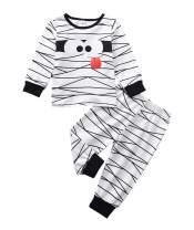 Halloween Kids Newborn Baby Boys Girls Outfit Mummy Stripes Romper Bodysuit Jumpsuit+Pants Pajamas Clothes Set