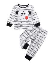 Halloween Kids Newborn Baby Boys Girls Outfit Mummy Stripes Romper Bodysuit Jumpsuit+Pants Pajamas Clothes Set