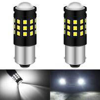 KATUR 1156 BA15S P21W 1141 1095 LED Bulb High Power 3030 Chips Extremely Bright 2700 Lumens Replace for Brake Light Turn Signals Bulbs Reverse Tail Lights,6500K Xenon White (Pack of 2)