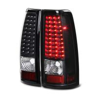 VIPMOTOZ For 2003-2006 Chevy Silverado 1500 2500 3500 Black Bezel LED Tail Brake Light Housing Lamp Assembly Driver and Passenger Side Replacement Pair