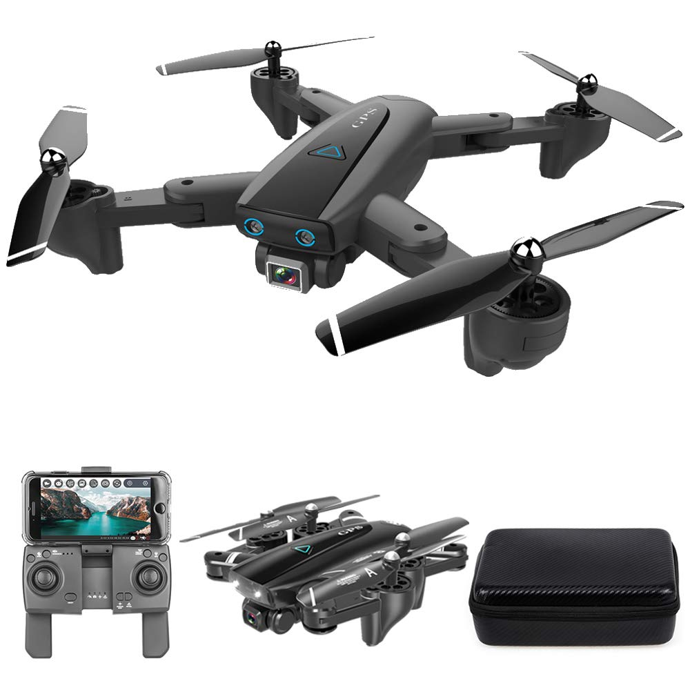 GoolRC CSJ S167 GPS Drone, 2.4G WiFi FPV RC Drone with Camera 4K HD Gesture Photos Video, Auto Return Home, Altitude Hold, Follow Me RC Quadcopter for Adults with Handbag