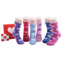 Valentines Day Gifts for Her - Crew Girls Womens Socks Fuzzy Socks Gift Idea