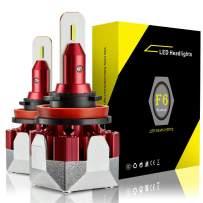 ANTLINE H11 H8 H9 LED Headlight Bulbs Conversion Kit Xenon White, Extremely Bright 6000 Lumen F6 CSP LED Chips for High/Low Beam Headlight Fog Light Bulb 6000K(Pack of 2)