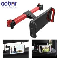 GOOFIT Car Headrest Mount,Tablets Car Holder Back Seat Bracket Replacement for 4'' to 10'' Devices (black red)