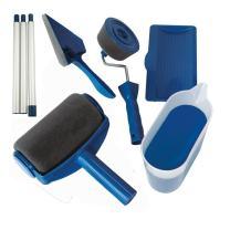 ELEOPTION Paint Roller Kit Paint Runner Set Including Paint Roller Tray, Paint Roller Extension Pole, Paint Roller Edger, Corner Cutter Painter for Home Painting for Walls (6pcs-Paint Runner Set)