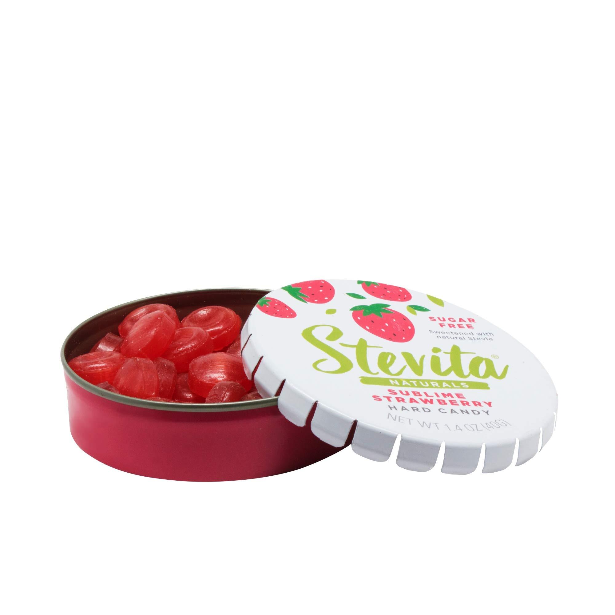 Stevita Stevia Sweet Candy Natural Strawberry Flavor- 1.4 Oz - Sugar Free Hard Candy, Stevia Sweetened - Usda Organic, Non Gmo, Keto, Paleo, Gluten-Free - 26 Servings, Pack of 1