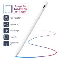 Stylus Pen for iPad with Palm Rejection and Magnetic Design, Rechargeable Active Stylus Compatible with (2018-2020) Apple iPad 6th 7th Gen/iPad Pro 11''&12.9''/iPad Mini 5th Gen/iPad Air 3rd Gen