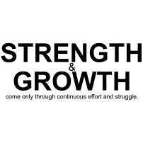 My Vinyl Story Strength and Growth Office Decor Wall Art Wall Decal Inspirational Motivational Vinyl Office Supplies Home Gym Work Success Wall Sticker Teamwork Welcome Quote Business Sign Gift Large