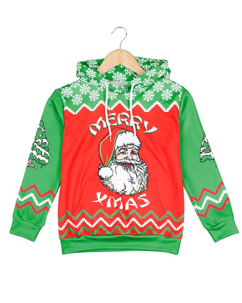 Kids Novelty Christmas Sweater Hoodie,Boys/Girls Ugly Christmas Sweatshirt, Chrismas Costume