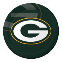 Creative Converting Officially Licensed NFL Dinner Paper Plates, 96-Count, Green Bay Packers - 429512