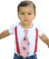Noah's Boytique Baby Boy 4th of July Outfit Patriotic Star and Stripes