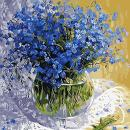 Adarl DIY Oil Painting Paint by Number Kit Image Drawing On Canvas by Hand Coloring Arts Crafts & Sewing New Blue Floral