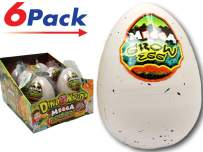 JA-RU Easter Egg Toy Magic Grow Dinosaurs Hatching Eggs Toy (6 Assorted Eggs) Easter Party Toy for Boys and Girls Kids Party Favor Toy. Dino Eggs That Hatch. Bath Growing Toy. | Item #1747-6p