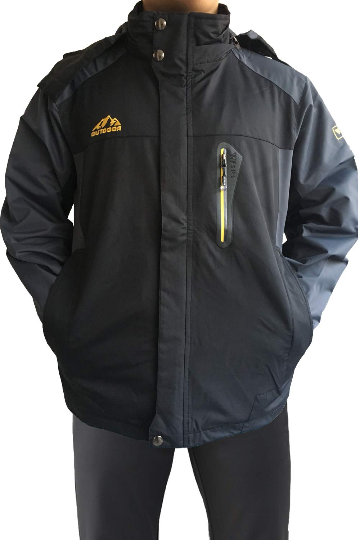 Mr.Stream Men's Sports Walking Outdoor Camping Windbreaker Coat Athletic Hiking Mountain Windproof Hooded Ski Jacket