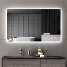 IOWVOE 40 x 24 Inch LED Backlit Mirror for Bathroom Wall Mounted Vanity Mirror Anti-Fog Dimmable Touch Switch Makeup Mirror with Lights (Vertical & Horizontal)
