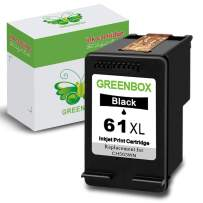 GREENBOX Re-Manufactured Ink Cartridge Replacement for HP 61XL 61 XL Used in HP Envy 4500 5530 5534 5535 Deskjet 1000 1010 1510 1512 2540 3050 3510 3050A Officejet 2620 4630 4635 (1 Black)