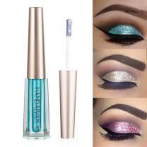 GL-Turelifes Diamond Glitter Liquid Eyeshadow & Eyeliner Pen Starry Sequins Mermaid Eye Shadow Long Lasting Shiny and Pigmented Waterproof Sparkling &Shimmer Eyes Makeup(#12 Light bule)