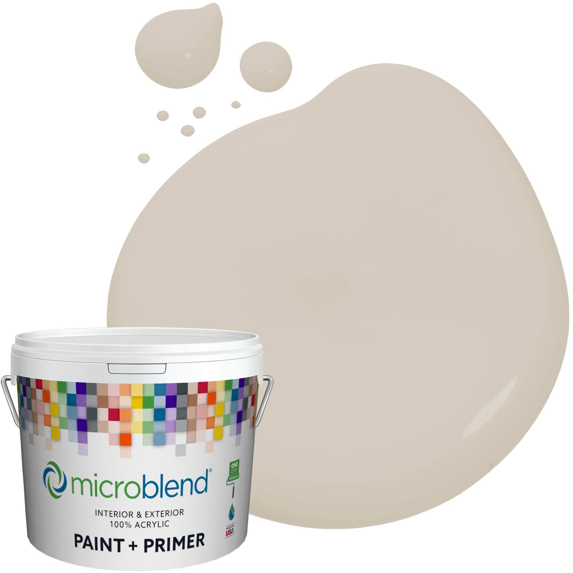 Microblend Interior Paint + Primer, Aged Linen, Semi-Gloss Sheen, 1 Gallon, Custom Made, Premium Quality One Coat Hide & Washable Paint (73241-2-M1588B3(C))
