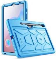 Galaxy Tab S6 Tablet Case, Poetic Heavy Duty Shockproof Kids Friendly Silicone Case Cover, TurtleSkin Series, for Samsung Galaxy Tab S6 10.5 inch Tablet (SM-T860/SM-T865 2019 Release), Blue