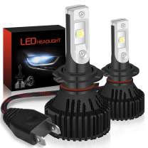 KATUR H7 LED Headlights Bulbs Super Bright CREE Chips 16000LM Waterproof All-in-One LED Headlight Conversion Kit 60W 6500K Xenon White - 3 Yr Warranty