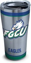 Tervis 1297934 Florida Gulf Coast Eagles Tradition Insulated Tumbler with Hammer Lid, 20 oz Stainless Steel, Silver