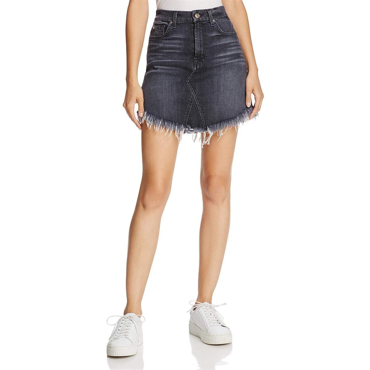 7 For All Mankind Women's Denim Skirt