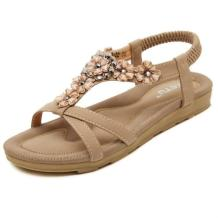 Insun Women's Beach Flower Ankle Strap Flat Sandal