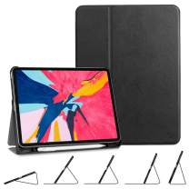 Fintie Case for iPad Pro 11 Inch 1st Generation 2018 [Supports 2nd Gen Pencil Charging Mode] - SlimShell Multi-Angle Viewing Folio Cover with [Secure Pencil Holder] Auto Sleep/Wake, Black