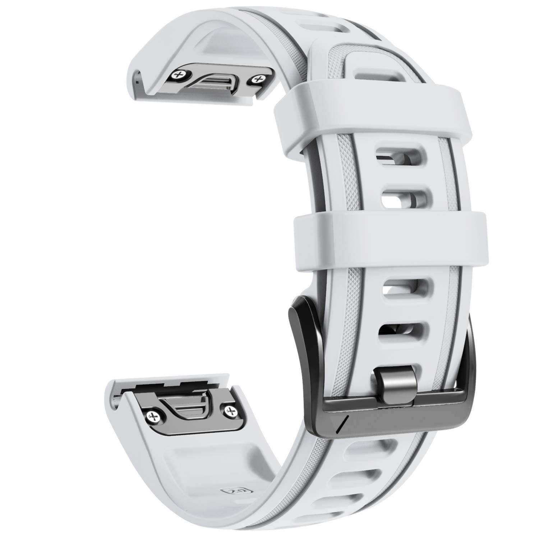 NotoCity Compatible with Fenix 6S Watch Band 20mm Sport Watch Strap for Fenix 5S / 5S Plus/Fenix 6S/Fenix 6S Pro/D2 Delta S Smartwatch(White)