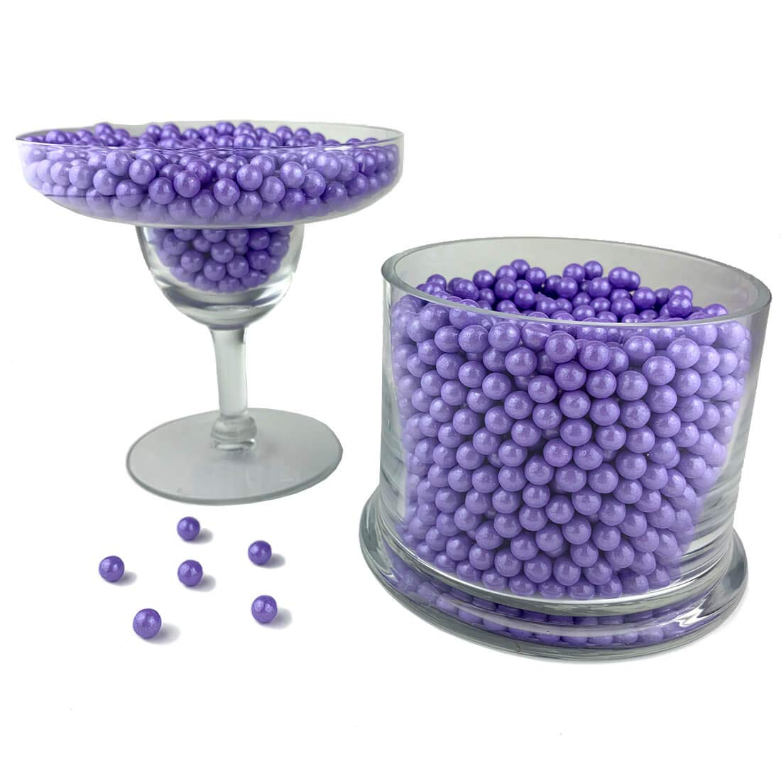 Color It Candy Shimmer Lavender Pearls 2 Lb Bag - Perfect For Table Centerpieces, Weddings, Birthdays, Candy Buffets, & Party Favors.