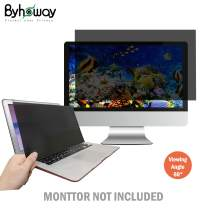 Byhoway 19 inch Laptop Privacy Screen Protector Computer Widescreen Monitor Privacy Filter w/Anti-Glare/Scratch/Fingerprint/Radiation, Black(16:14)