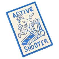 Active Shooter PVC Morale Patch by Violent Little Machine Shop - Tactical Velcro