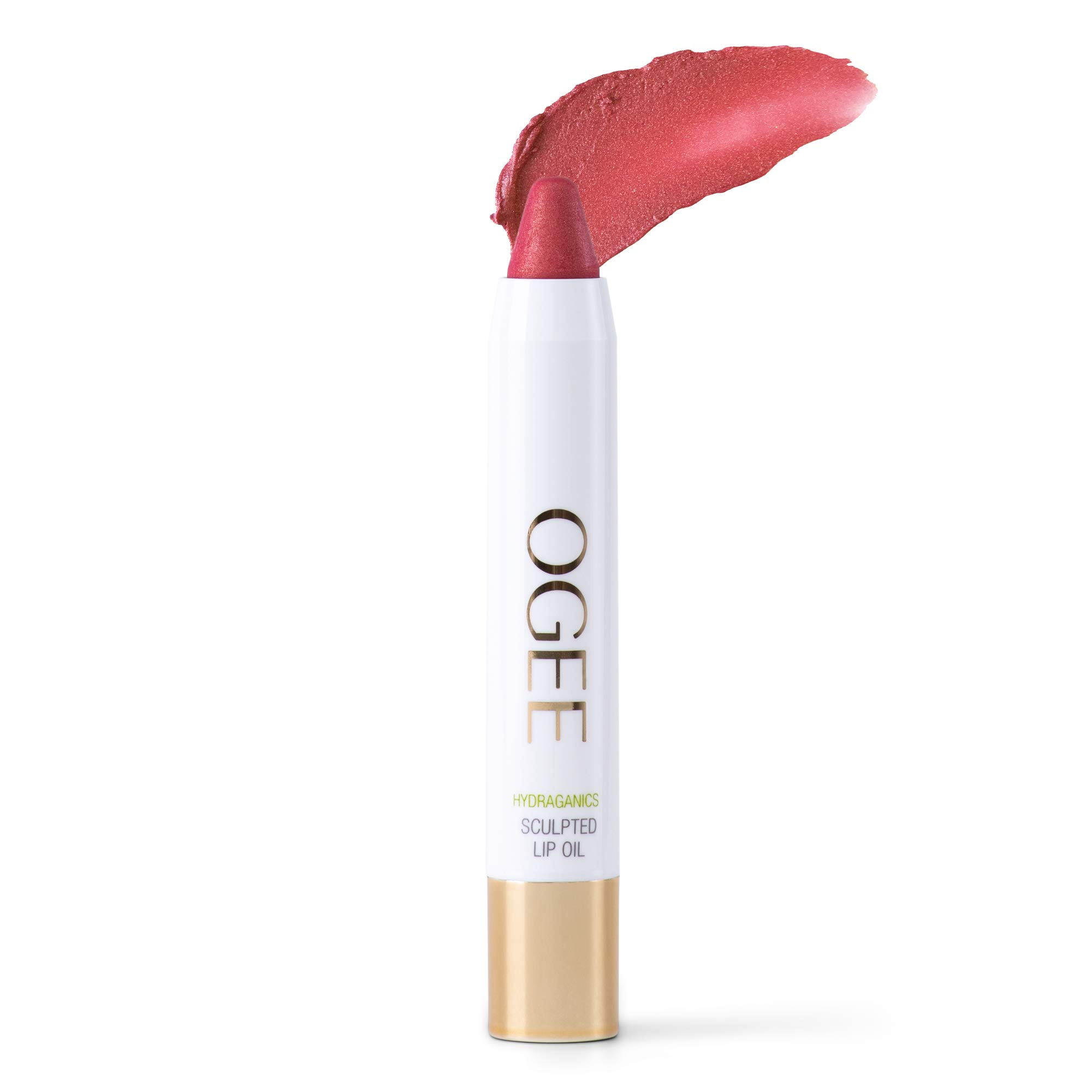 Ogee Tinted Sculpted Lip Oil - Made with 100% Organic Coconut Oil, Jojoba Oil, and Vitamin E - Best as Lip Balm, Lip Color or Lip Treatment - Linnea