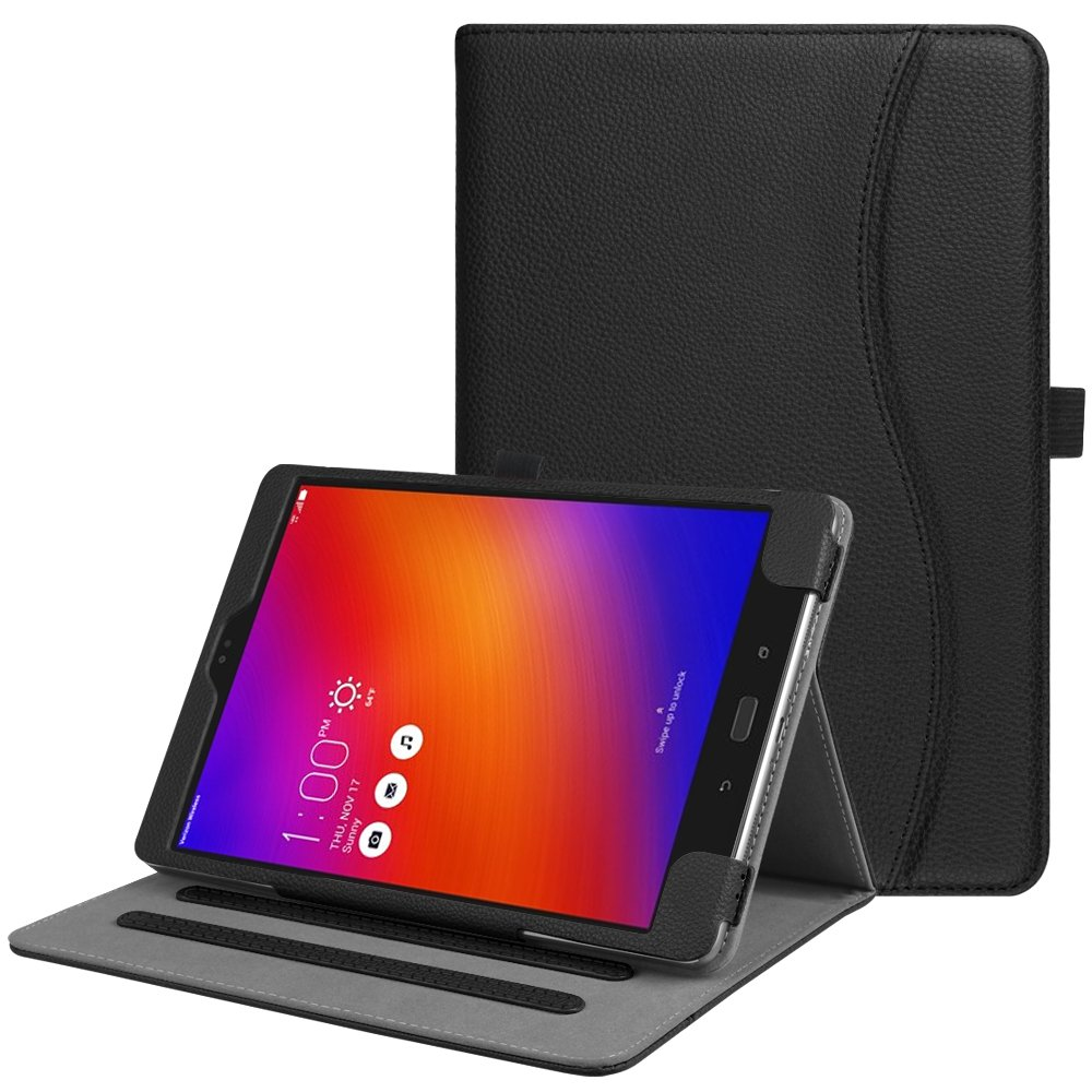 Fintie Case for Asus ZenPad 3S 10 Z500M / ZenPad Z10 ZT500KL - Multi-Angle Viewing Folio Stand Cover with Pocket for ZenPad 3S 10 / Verizon Z10 9.7-Inch Tablet (Black)