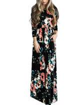 SELUXU Women Summer Maxi Sundress V Neck Spaghetti Strap Ruffle Split Long Dress