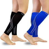 Compression Calf Sleeves (20-30mmHg) for Men & Women - Leg Compression Socks for Shin Splint,Running,Medical, Travel, Nursing