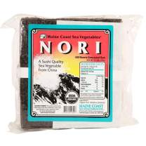 Nori Sushi Sheets (Raw) | 100 Count | Organic Seaweed Wraps for Making Sushi | Maine Coast Sea Vegetables
