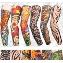 Yariew 6pcs Temporary Tattoo Sleeves, 6pcs Set Arts Temporary Fake Slip On Tattoo Arm Sleeves Kit, Color 12