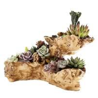 Faux Log Driftwood Planter Artificial Multilayer Planter Large Sculpture Holder Tree Root Flower Pot (Multilayer)