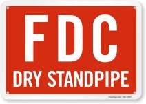 "SmartSign""FDC - Dry Standpipe"" Sign | 7"" x 10"" Aluminum"