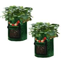 Asunflower 10 Gallon Planting Grow, 2 Potatos Tub with Access Flap for Harvesting,Vegetable Packs w/Holes for Drainage Garden Planter Bag
