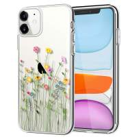 LYWHL iPhone 11 Case Floral, iPhone 11 Case Clear Flower Design for Women Girls Flexible Case Shockproof Bumper Protective Slim Case for iPhone 11 6.1 inch 2019 - Bouquet