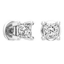 Dazzlingrock Collection 0.50 Carat (ctw) 10K Gold Princess Cut White Diamond Ladies Stud Earrings 1/2 CT