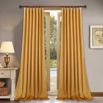 StangH Velvet Curtains for Backdrop - Luxury Soft Velvet Texture Curtain Panels for High Ceiling Decorative Drapes for Hotel Hall/Holiday, Orange Gold, 52 x 108 inches, 2 Panels