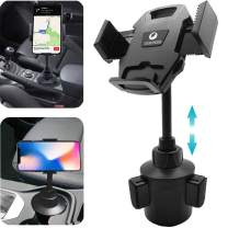 2021 Car Cup Holder Phone Mount Adjustable Universal Cup Holder Cradle Car Mount for Cell Phone Compatible with iPhone12 Pro Max/XR/XS/11/X/8/7 Plus/6s,Samsung Note10/S10/S9/S8/S7