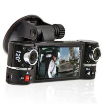 "inDigi 2.7"" TFT LCD Dual Camera Rotated Lens Car DVR Vehicle Video Recorder Dash Cam"