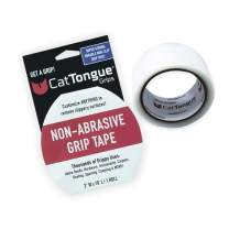 Non-Abrasive Grip Tape by CatTongue Grips – Heavy Duty Waterproof Anti Slip Tape for Indoor & Outdoor Use - Thousands of Grippy Uses: Home Goods, Hardware, Accessible Home and More! (Clear Tape)